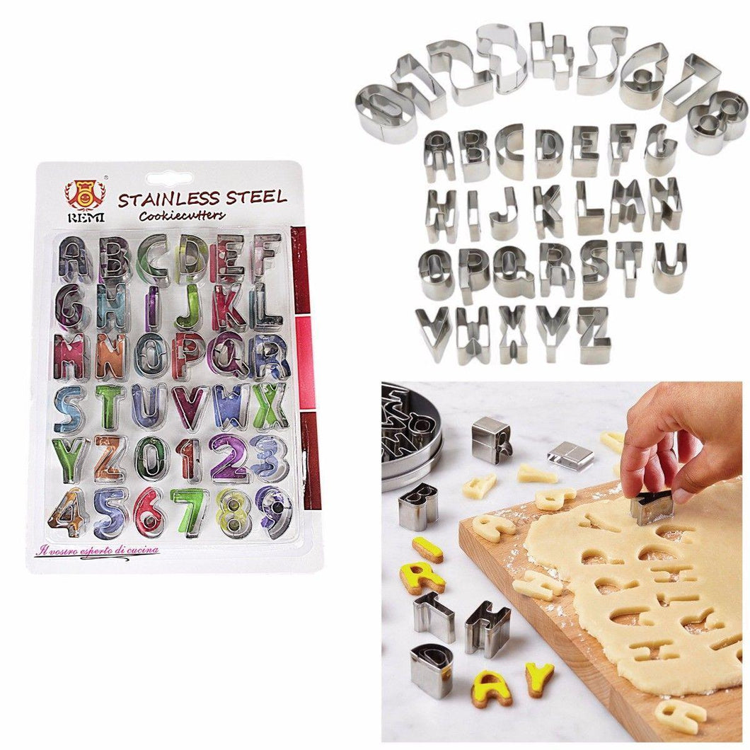 Stainless Steel Cookie Cutters In Alphabet Shapes and Numbers 1-9 6007 (Large Letter Rate)
