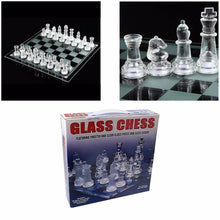 Load image into Gallery viewer, Traditional Family Fun GLASS CHESS Board Game 32 Glass Pieces 20 x 20cm  3163 (Parcel Rate)