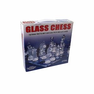 Traditional Family Fun GLASS CHESS Board Game 32 Glass Pieces 20 x 20cm  3163 (Parcel Rate)