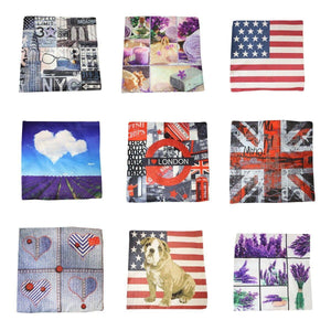 Thick Fabric Assorted Design/Colour Pillow -Cushion Cover/Roll 45cm  3954 (Large Letter Rate)