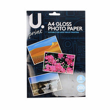 Load image into Gallery viewer, A4 Gloss Photo Paper Includes 8 Sheets 200GSM Superior Quality P2379