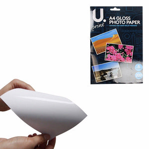 A4 Gloss Photo Paper Includes 8 Sheets 200GSM Superior Quality P2379