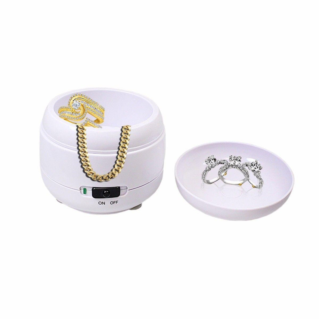 Ultrasonic Bath Compact Jewellery Ring Watch Dentures Coin Gold Cleaner Cleaning  3879 (Parcel Rate)