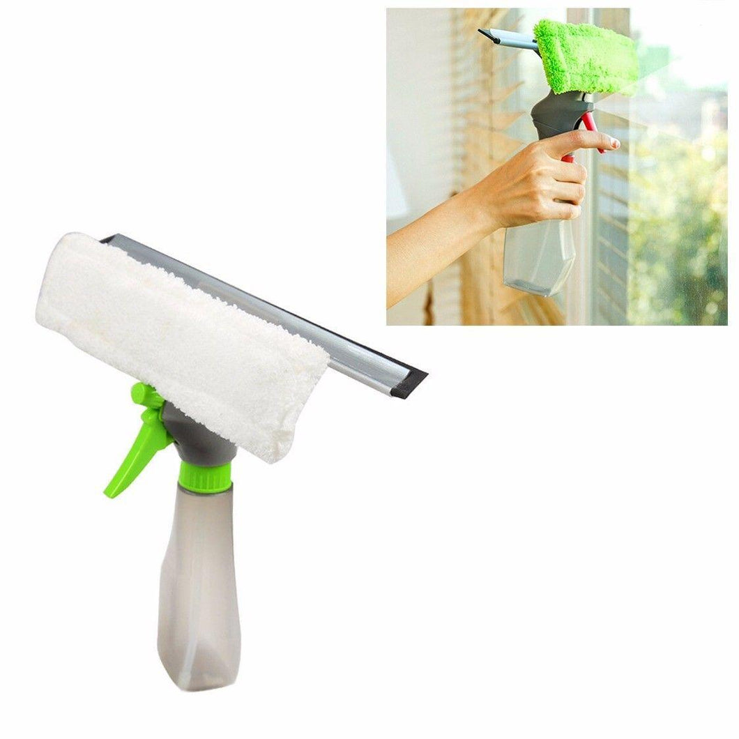Window Cleaner Spray Bottle With Squeegee And Microfiber Cloth Pad Vacuum Head   3670 (Parcel Rate)
