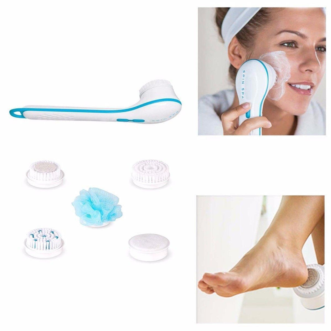 Waterproof Face Spin Facial Brush Body Shower Spinning Spa Bath Brush Scrubber 4757 (Large Letter Rate)