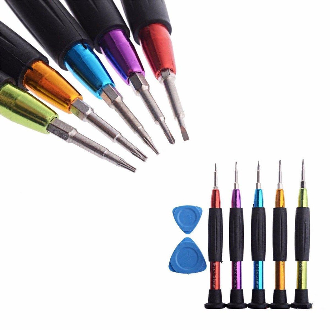 Pack Of 5 Precision DIY Tools Screwdrivers Assorted Colours 1.5 x 25mm  4044 (Large Letter Rate)