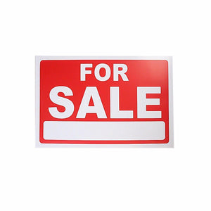 Shop Sign 'FOR SALE' Advertising Sale Items Sticker Adhesive 30cm x 20cm  4905 (Large Letter Rate)
