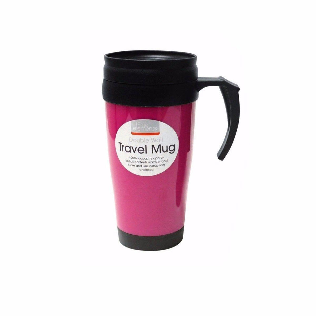 400ml Double Wall Travel Mug Ideal Travel Accessory  flk1037 (Parcel Rate)