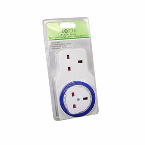 Eurosonic 24 Hour Timer With Additional Socket Non Timed 15 Minute Settings 6066 (Parcel Rate)