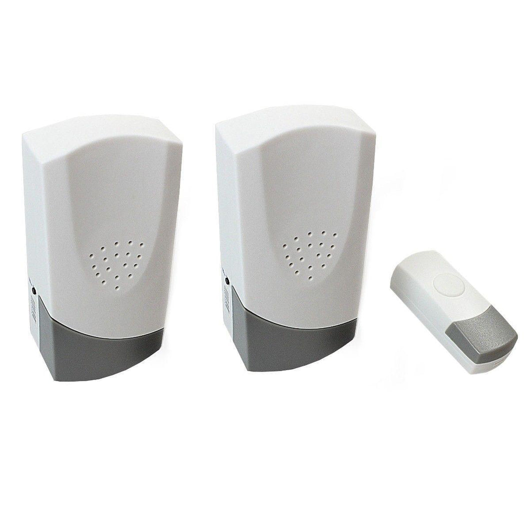 Wire-Free Door Chime Kit 2x Chime Units Pack of 3 Battery Included   5911 (Parcel Rate)