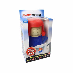 Microwave Cleaner Angry Mama Microwave Oven Fast Action Steam Cleaner 3931 (Parcel Rate)