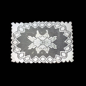 Beautiful Kitchen Tableware Lace Table Mat In White Approx 40cm    2852 (Large Letter Rate)
