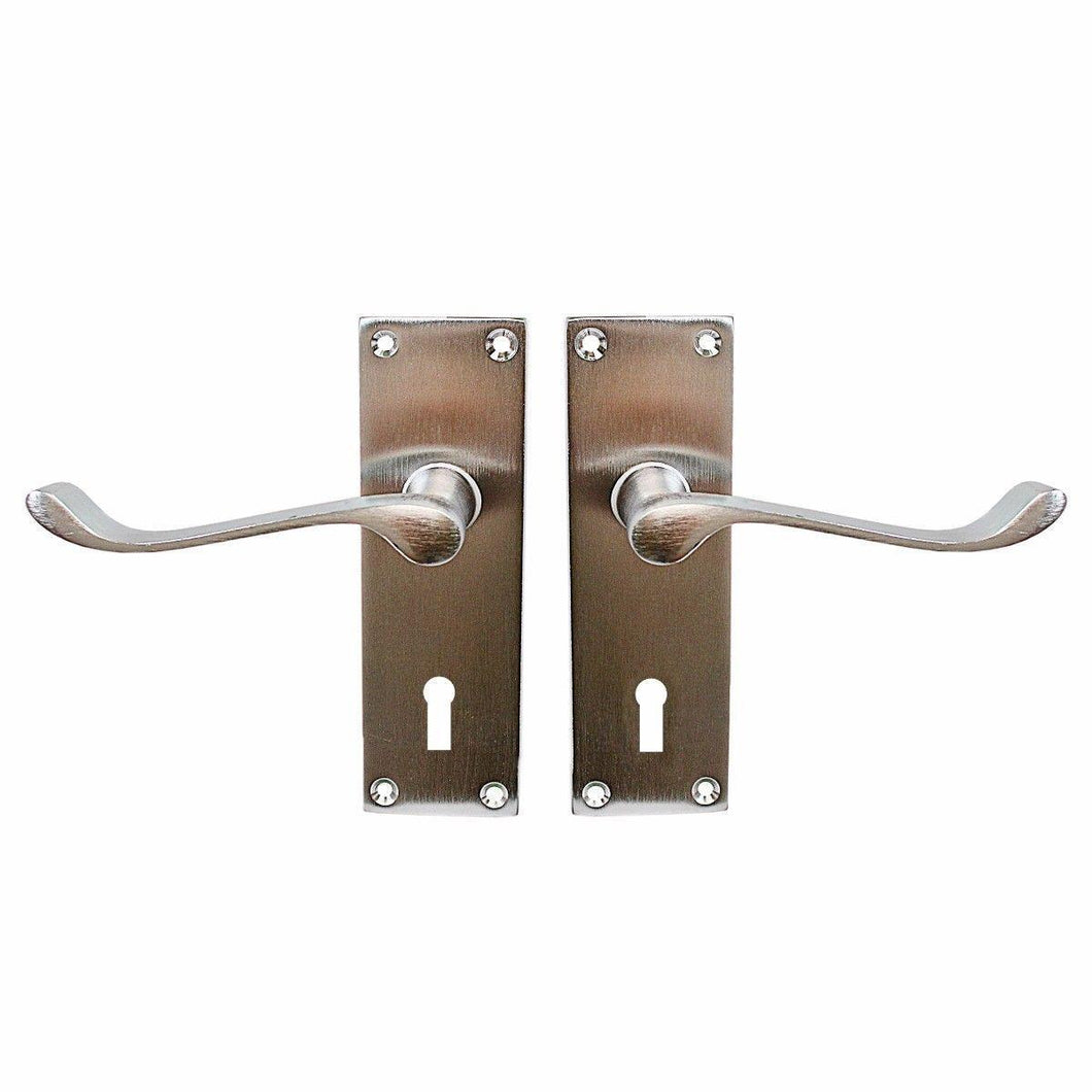 6'' Vic Scroll Lock Satin Chrome 1 Pair With Screws  0853 (Parcel Rate)