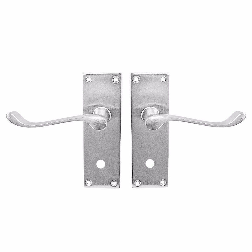 6'' Vic Scroll Bathroom Chrome 1 Pair With Screws Home Diy 0716 (Parcel Rate)