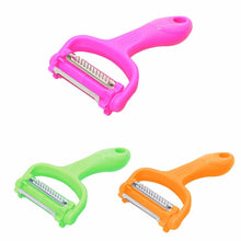 Load image into Gallery viewer, Multifunctional Plastic Peeler and Cutter Ideal for Kitchen 3 Colours  4774 (Large Letter Rate)