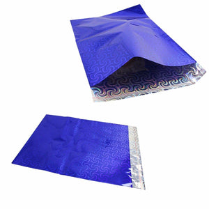 Blue Shiny Gift Wrapping Packaging, Gift Bag Envelope 28cm x 36cm Pack of 3   4914 (Large Letter Rate)