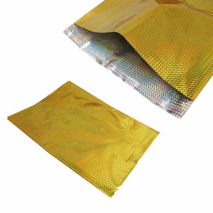 Gold Shiny Packaging, Wrapping Gift Bag Envelope 35cm x 46cm Pack of 2   4915 (Large Letter Rate)