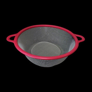Plastic Colander Sieve & Vegetable Strainer With Pink Plastic Outline 25cm Kitchen 4776 (Parcel Rate)