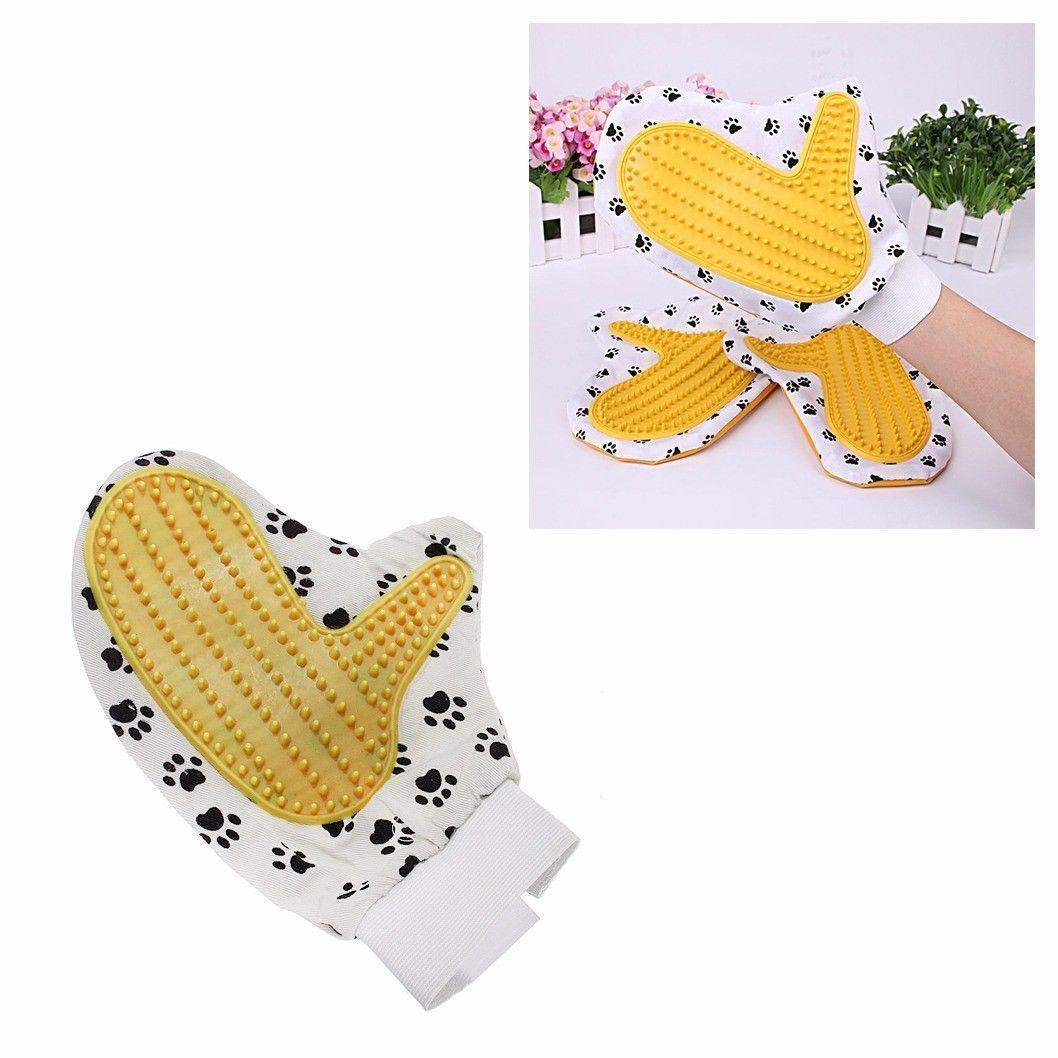 Pet Touch Grooming Massage Hair Removal Bath Brush Glove Dog Cat Hair Comb 4410 (Large Letter Rate)