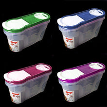 Load image into Gallery viewer, Cereal Dispenser Store Storage Box Kitchen Lid Foods Rice Pasta Container 1400ml (Parcel Rate)