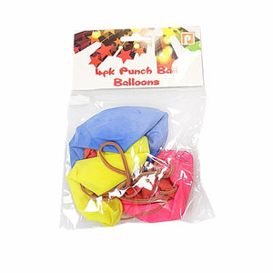 Childrens Boys and Girls Large Punch Ball Balloons Pack of 4 Assorted Colours   2166 (Large Letter Rate)