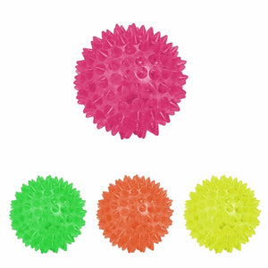 Flashing Light Up Spikey High Bouncing Balls Novelty Sensory Hedgehog Ball 4827 (Parcel Rate)