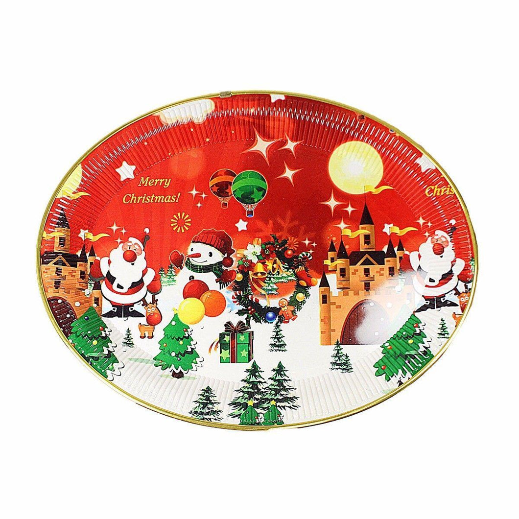 Merry Christmas Novelty Printed Snowman Festive Fun Tray 47cm x 36cm  4785 (Parcel Rate)