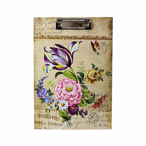 Floral Printed A4 Paper Clipboard, Office Supplies and Stationery   4798 (Parcel Rate)