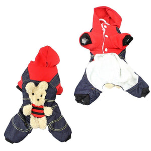 Cute Teddy Style Dog Pet Harness Style Fabric Jacket In 2 Designs Size Small 1812 (Parcel Rate)