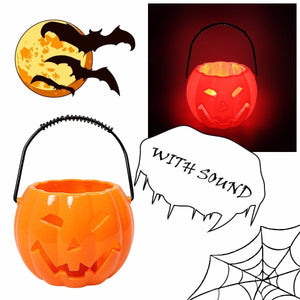 Halloween Special Light Up Pumpkin Basket With Sound And Light 4635 (Parcel Rate)