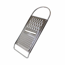 Load image into Gallery viewer, Stainless Steel Kitchen Grater 3 Way Flat Hand Grater Cheese Nutmeg Zest 4825 (Parcel Rate)