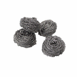 4 x Tough Handy Stainless Steel Super Fine Scourers   4899 (Parcel Rate)