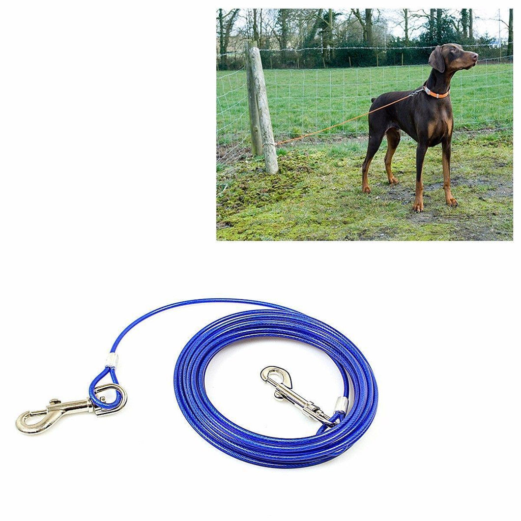Pro 20ft Strong High Impact Extra Long Dog & Pet Tie Out Cable 4616 (Parcel Rate)