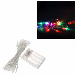 20 x LED Multi-Coloured Christmas Fairy Lights, Battery Operated 4705 (Large Letter Rate)
