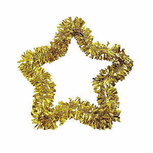 Tinsel Christmas Gold Bright Star Ideal Decor For Special Occasions 40cm x 50cm  4448 (Parcel Rate)