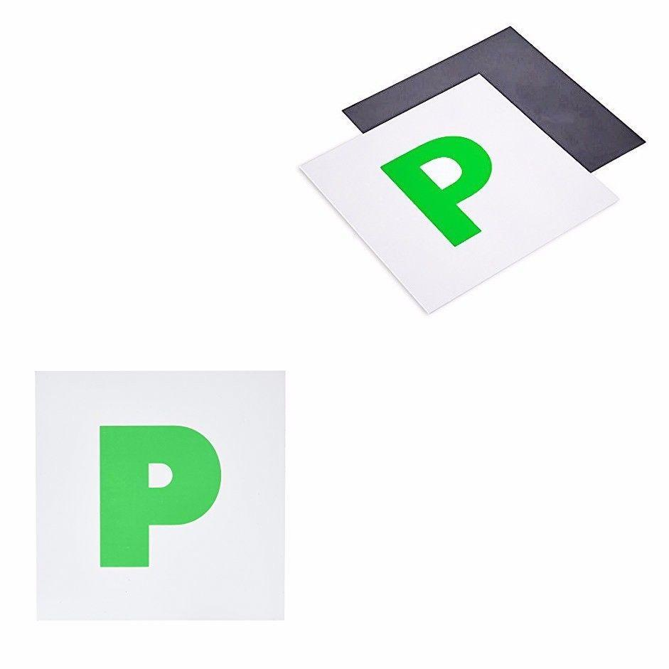 Green 'P' Passing Magnetic Plate Car Accessory Pack Of 2  4901 (Large Letter Rate)