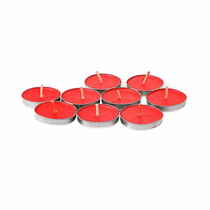 Rosy Red Tealight Candles Plain Wax Red Candles Pack Of 50  4850 (Large Letter Rate)
