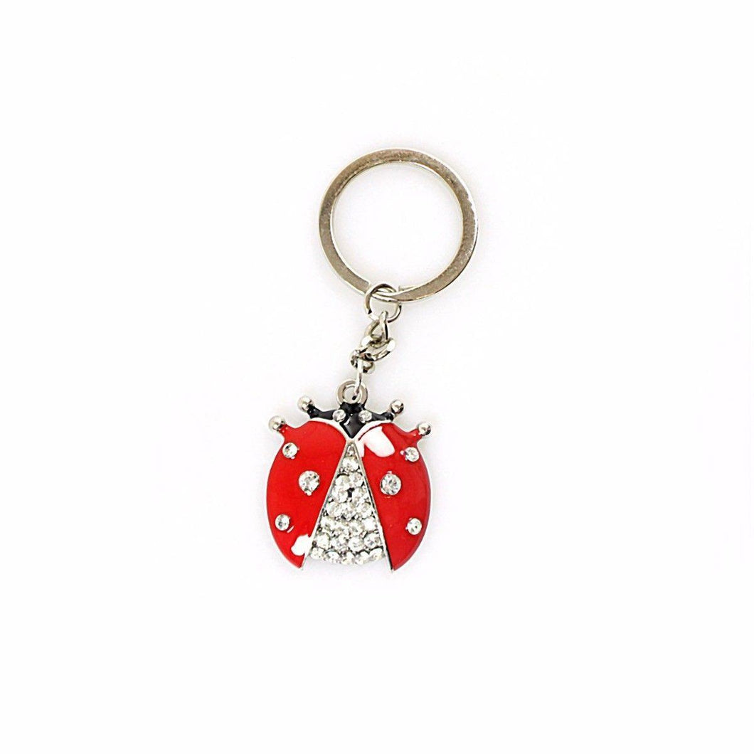 Novelty Metal Ladybird Keychains Style Keyring Red White Ladybird Keyring   2523 (Large Letter Rate)