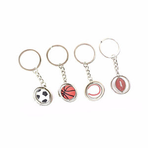 Metal Sports Keychain Style Keyring Football Basketball Basketball Baseball 2519 (Large Letter Rate)