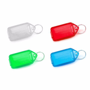 Value Pack Of 4 Key Tags Large 7cm x 3.5cm Assorted Colours 0660 (Large Letter Rate)