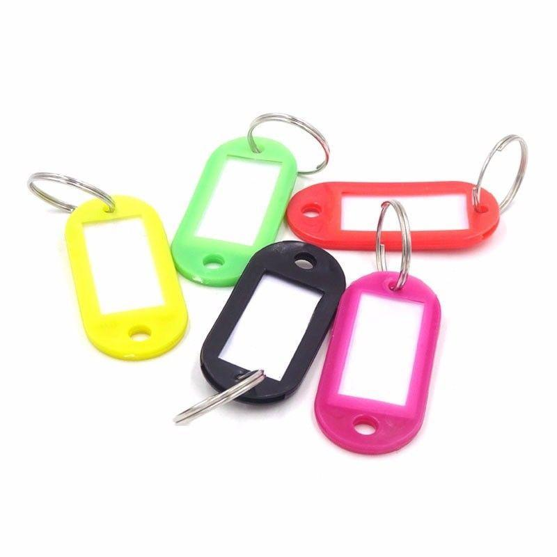 Key Ring Tags, Assorted Colour Plastic Pack of 6   0233 (Large Letter Rate)