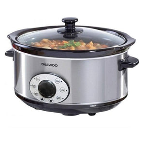Daewoo 6.50 Litre Digital Slow Cooker Stainless Steel Non Stick Casserole Oven Steam SDA1788GE (Big Parcel Rate)