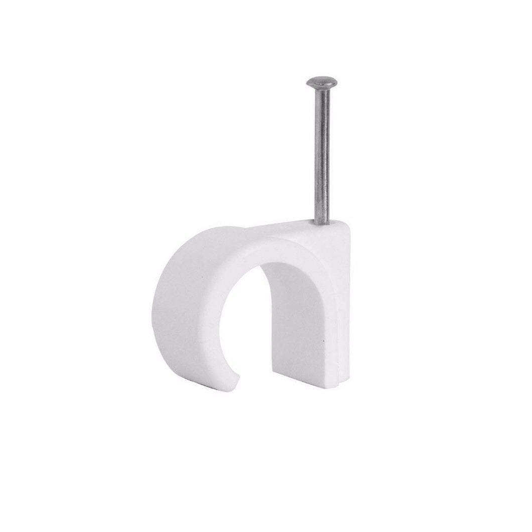 Cable Clips Round White 4mm Pack Of 60 Diy Home  0145 (Large Letter Rate)