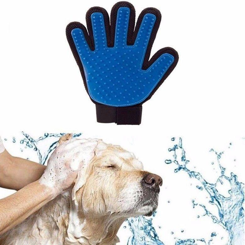 Five Finger De-shedding Glove For Quick Gentle Pet Grooming 4442 (Parcel Rate)