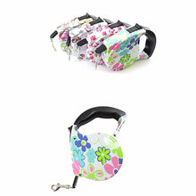 Load image into Gallery viewer, Quality Designer Windup Retractable Dog Lead With Comfort Grip 16.5/5m  0053 (Parcel Rate)
