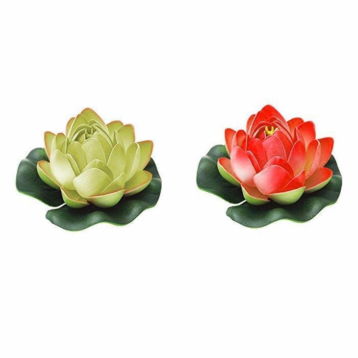 Aquarium Floating Flower Lotus Fish Ornament For Tanks 2218 (Large Letter Rate)