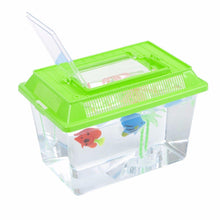 Load image into Gallery viewer, Plastic Starter Aquarium Fish Tank Reptile Insect Goldfish Cage Carry Handle Lid 0090 (Parcel Rate)
