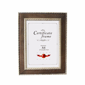 A4 Certificate Photo Frame, Gold Plated Photo Frame 21cm x 29.7cm 3630 (Lareg Letter)