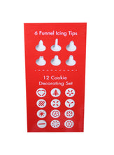 Load image into Gallery viewer, Cookie Press and Cake Decorator Set, 12 Cookie Decor Set, 6 Icing Funnels 4160 (Parcel Rate)