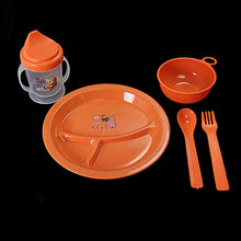 Load image into Gallery viewer, Baby Feeding Set Plate, Bowl, Lidded Tumbler & Cutlery Home 1541 (Parcel Rate)